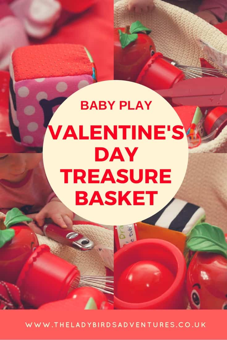 Valentine's day treasure basket