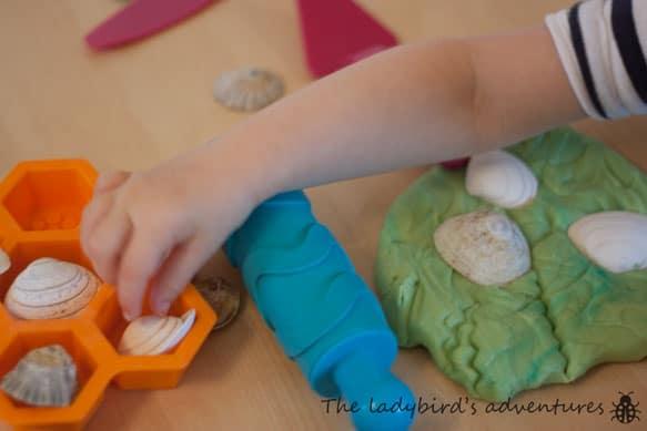 Seaside themed play dough