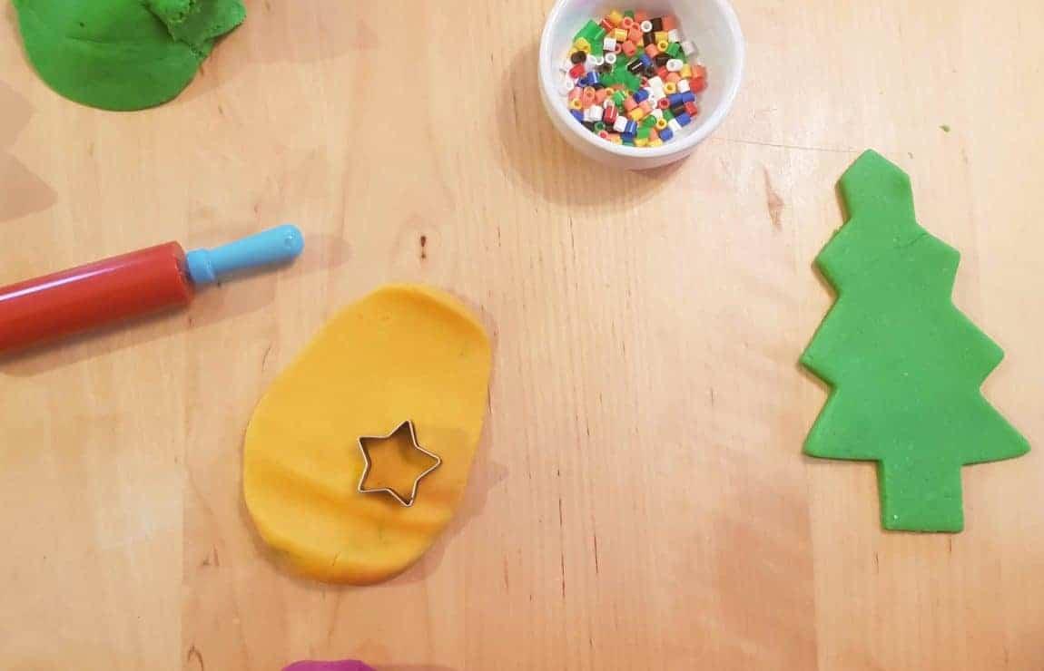 Christmas tree play dough