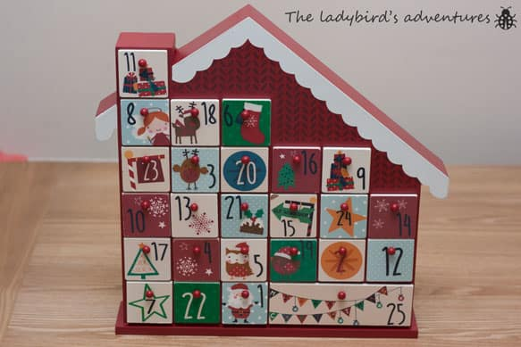 An advent calendar for a toddler