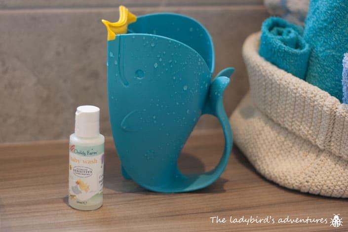 Newborn bath time essentials