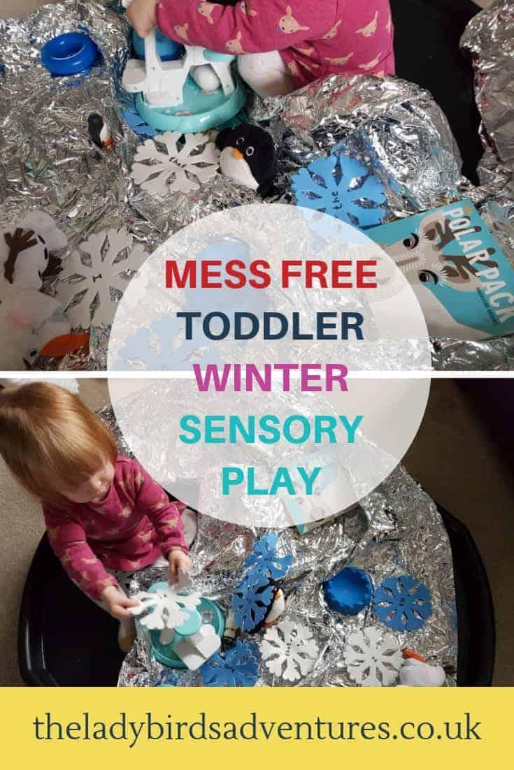 winter toddler sensory play