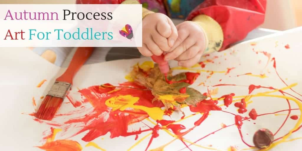 Autumn process art activity for toddlers