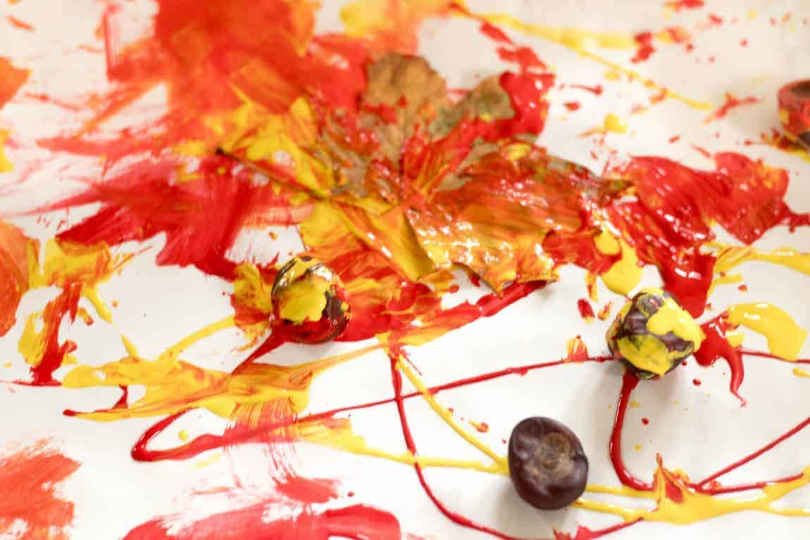 Autumn process art for toddlers