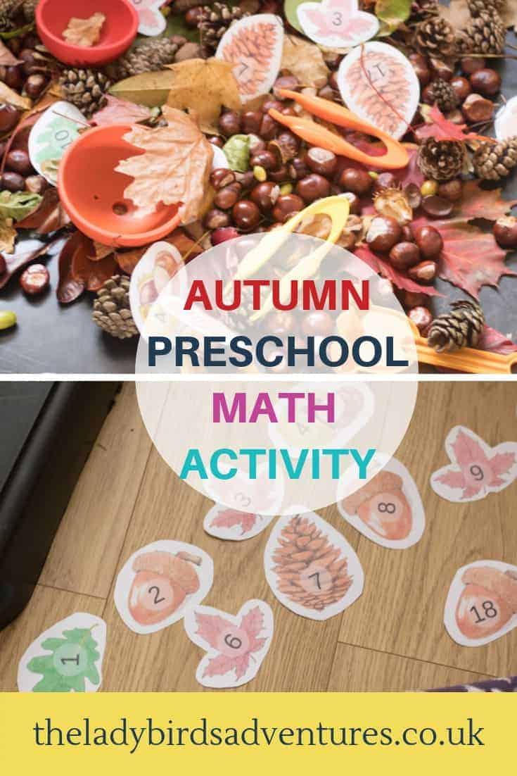 Autumn Preschool Math Activity