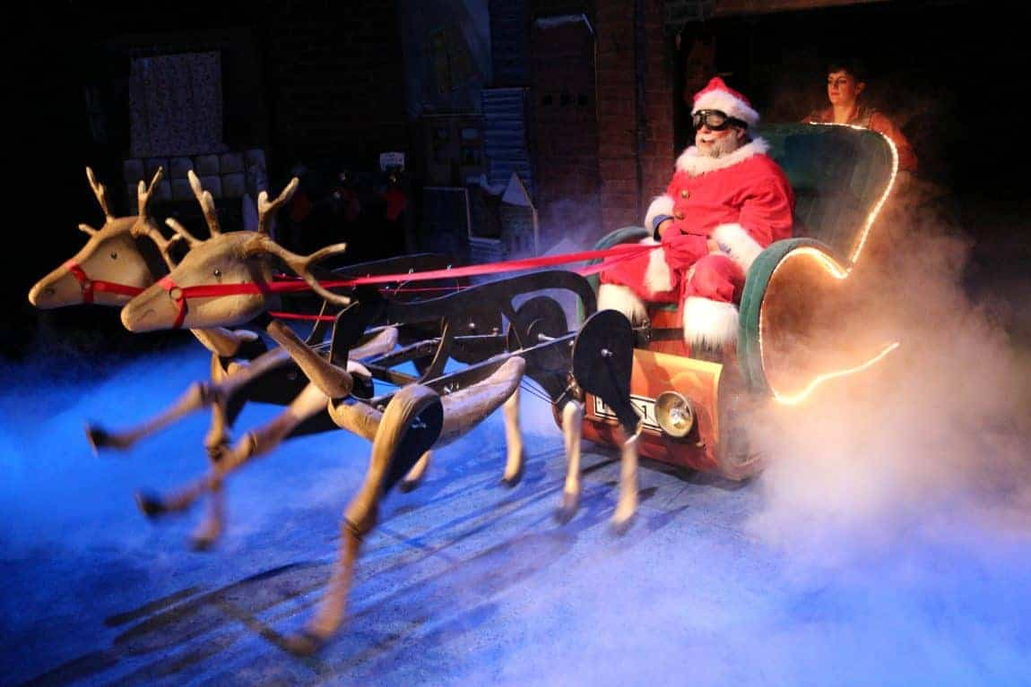 Father Christmas on a sleigh