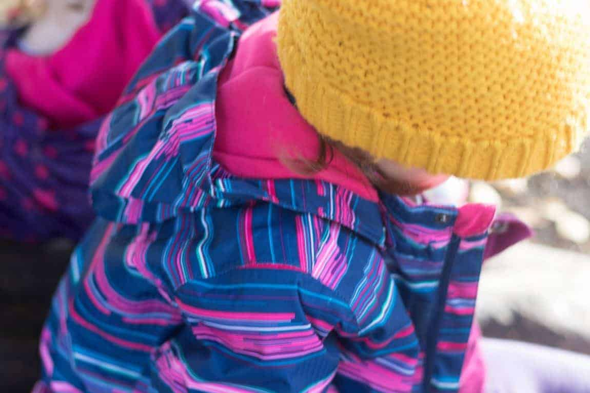 Winter outdoor clothing for kids