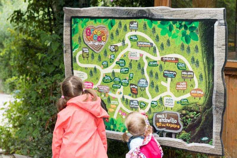 kids and Greenwood family park map